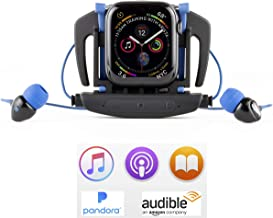 H2O Audio Interval Swim Headphones for Apple Watch Series 2, 3, 4, 5, Waterproof IPX8, in-Ear Stereo Earbuds, Noise Cancelling, No Drag Short Cord, Great for Swimming, Running and Sports Activities