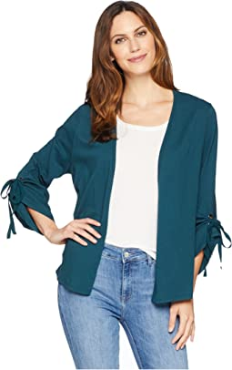 Nia Ruched Sleeve Knit Cardigan