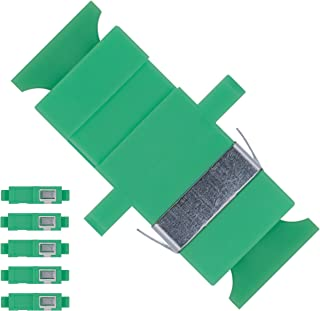 BEYONDTECH Fiber Optic SC to SC Adapter Single Mode APC Simplex - 5 Pack Fiber Optic Extender/Fiber Couplers Series