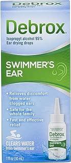 Debrox Swimmer's Ear Relief Ear Drying Drops | Water Clogged Ear Relief | 1.0 FL OZ
