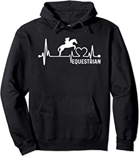 Equestrianism Horse Riding: Heartbeat Love Hoodie