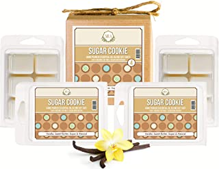 Aira Christmas Wax Melt - Organic, Vegan, Kosher, Scented Soy Wax Cubes w/Essential Oil Blends - No Chemical 100% Soy Wax Melts for Tealight Melters - Hand-Poured Soy Tarts - Sugar Cookie - 4 Pack