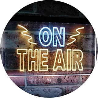 On Air Studio Recording in Progress Dual Color LED Neon Sign White & Yellow 400 x 300mm st6s43-i2066-wy