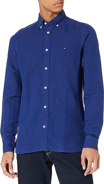 Tommy Hilfiger Slim Garment Dyed Co/Li Shirt Camisa para Hombre