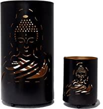 Hashcart Traditional Buddha Tea Light Candle Holder/Metal Candle Light Holder Set/Table Decorative Candle Holders, Tea Lig...