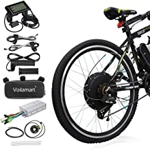 "Voilamart 26"" Rear Wheel Electric Bicycle Conversion Kit, 48V 1000W E-Bike Motor Kit with LCD Display, Intelligent Control..."