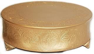 gold cake plateau round