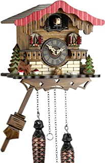/Coucou/ /29/cm de Maison de la /Offre de Montres de Parc Ebl/é/ Engstler Noir for/êts Horloge Coucou en Bois v/éritable avec batteriebetriebenem quartzwerk et Coucou r/éputation/