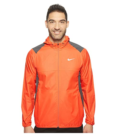 Nike Men's Printed Packable Hooded Jacket (Light Crimson / Reflective Silver)