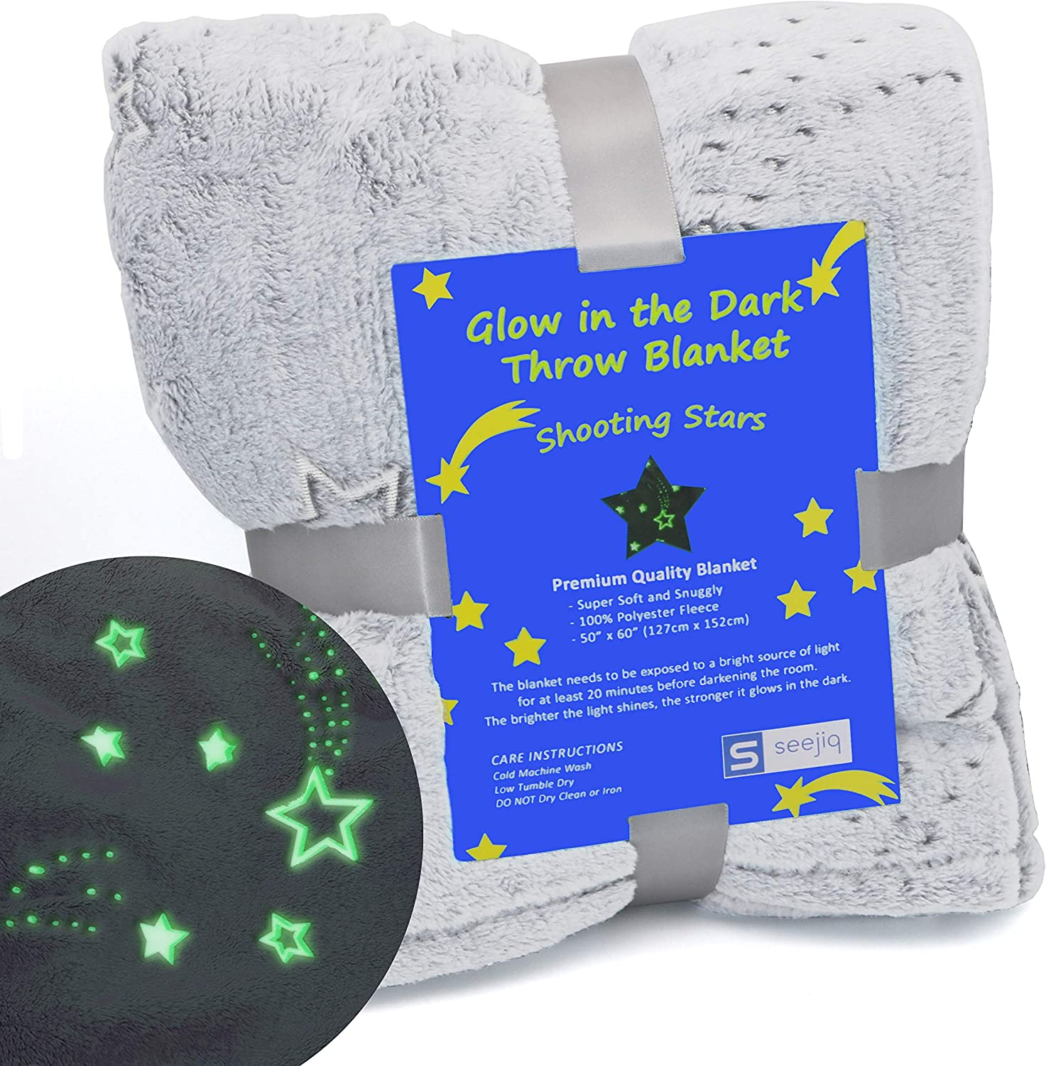 1 year warranty Glow Max 64% OFF in The Dark Blanket 50 Stars Inches X Flee 60 Shooting