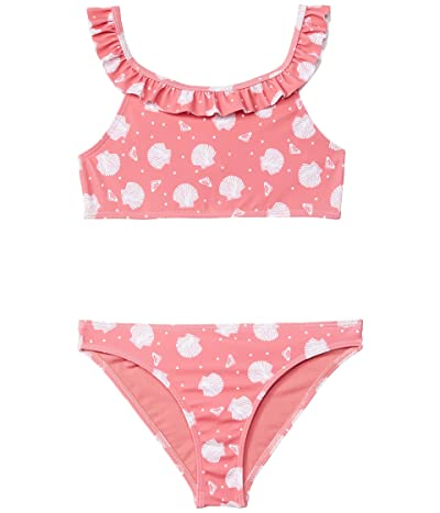 Roxy Kids Teeny Everglow Crop Top Swimsuit Set (Toddler/Little Kids/Big Kids) (Desert Rose Shella) Girl