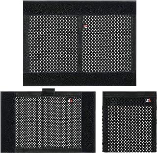 Pack of 3 Sizes Hook and Loop Mesh Pockets Net Bag/Fastener/Organizer for Securing Items in The DSLR SLR Camera Backpack/I...