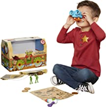 Toy Story Disney 4 Trunk, in A Box! 10Piece Woody Inspired Toy Chest - Includes Lenny The Binoculars, Buzz Lightyear Blaster, Woody's Roundup Map & More!