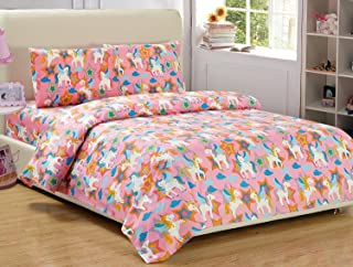 Fancy Collection 4pc Full Sheet Set Unicorn Pink Purple Blue Orange White New