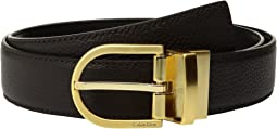 Calvin Klein - 32mm Pebble To Smooth Leather Reversible Strap Belt