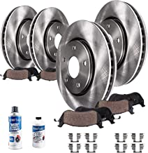 Detroit Axle Replacement for Lincoln Town Car Front and Rear Disc Brake Kit Rotors w/Ceramic Pads w/Hardware & Cleaner & F...