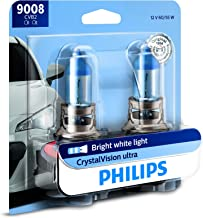 Philips 9008 / H13 CrystalVision Ultra Upgrade Bright White Headlight Bulb, 2 Pack