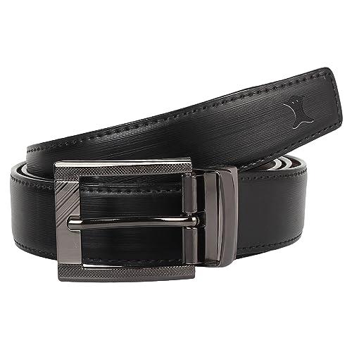 86b23ab2 Creature Reversible PU-Leather Formal Black/Brown Belt For Men(Color-Black
