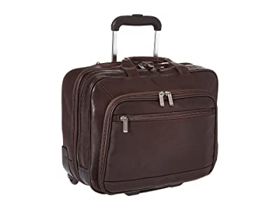 Kenneth Cole Reaction Wheel Be Okay Wheeled Leather Porfolio (Brown) Computer Bags