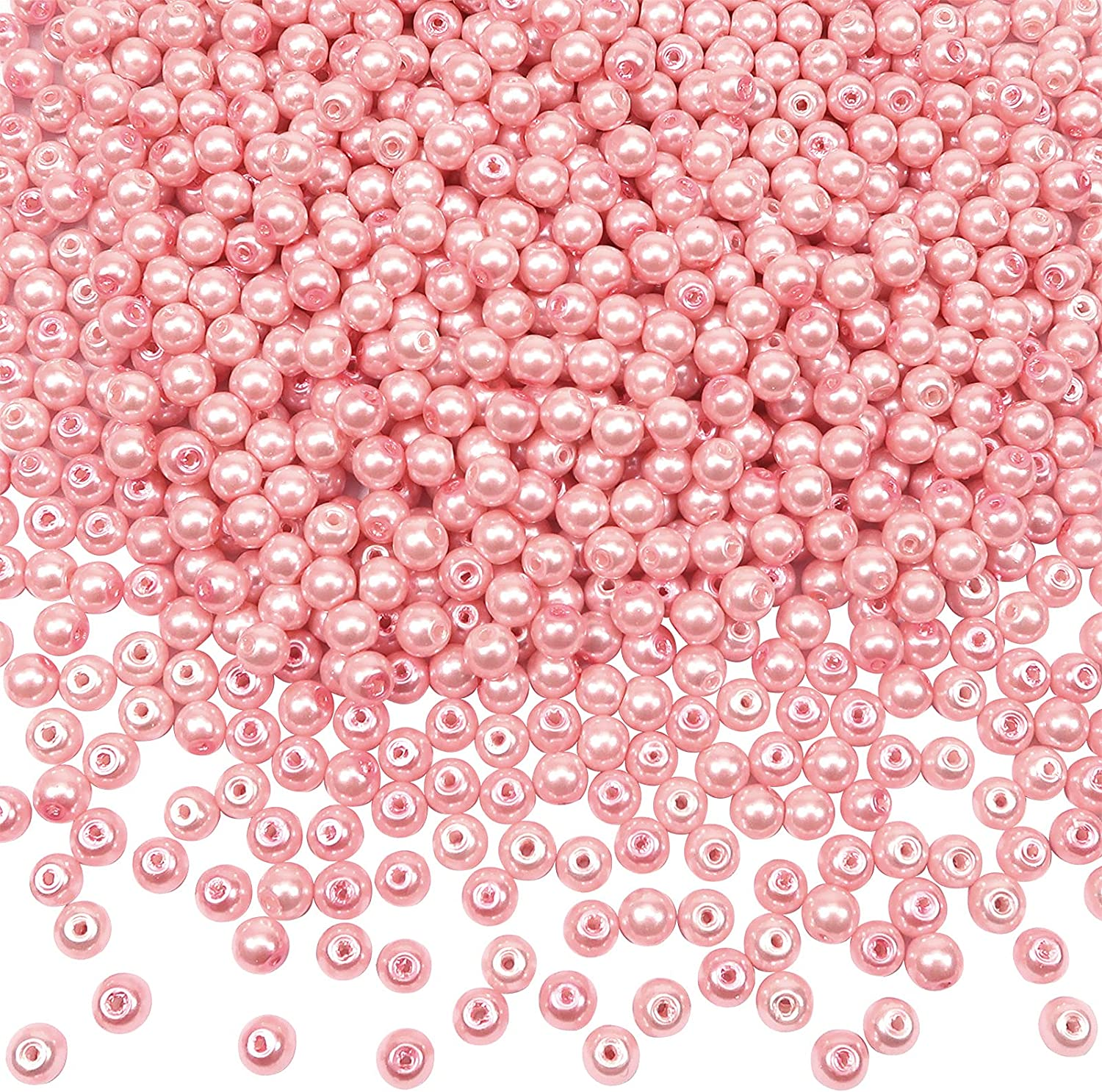TOAOB 1000pcs Glass Pearl Beads Tiny Industry No. 1 Pink 4mm H Max 57% OFF with