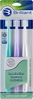 Brilliant Sensitive Toothbrush for Expectant Mom - With Soft 360 degree bristles for Sensitive Teeth and Bleeding Gums — I...