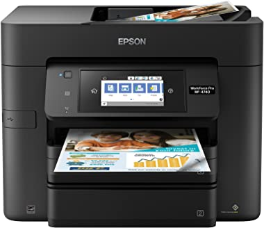 Epson WorkForce Pro WF-4740 Wireless All-in-One Color Inkjet Printer, Copier, Scanner with Wi-Fi Direct, Amazon Dash Replenishment Ready