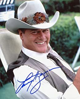 Larry Hagman Signed / Autographed Dallas 8x10 Glossy Photo portraying J.R. Ewing. Includes Fanexpo Certificate of Authenticity and Proof. Entertainment Autograph Original.