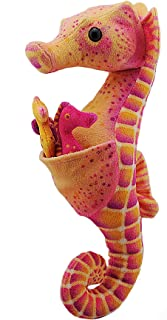 """Wild Republic Seahorse Dad with Babies Plush, Stuffed Animal, Plush Toy, Gifts for Kids, Aquatic, 11.5"""""""