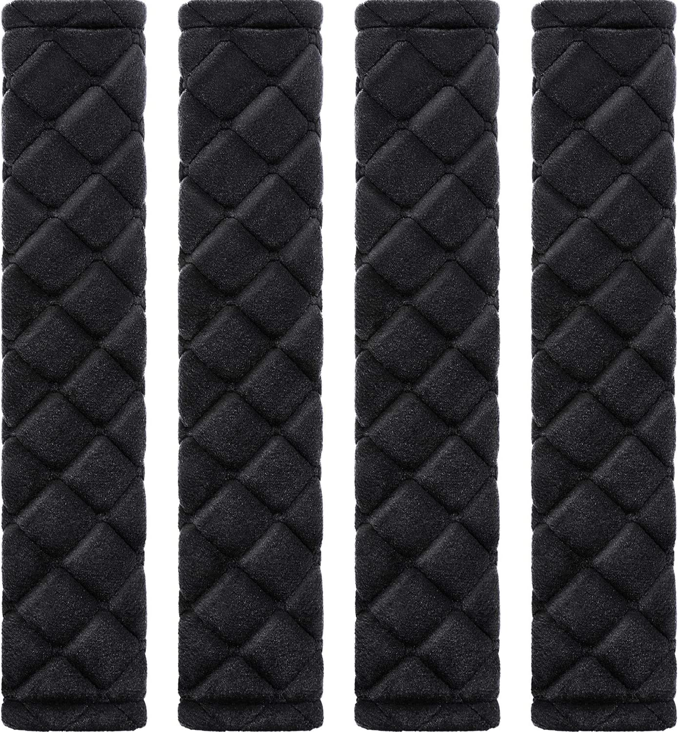 Tatuo 4 Pack Car Seat Belt Pads Seatbelt Protector Soft Comfort Seat Belt Shoulder Strap Covers Harness Pads Helps Protect Your Neck and Shoulder (Black)