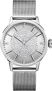 JBW Luxury Women's Belle 12 Diamonds & Pave Crystal Stainless Steel Mesh Watch