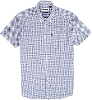 Mens Small Tailored Fit Check Button Down Shirt Blues