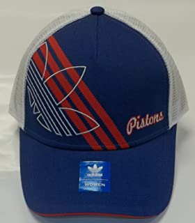 Detroit Pistons Womens Mesh Back Hat By Adidas NA35W
