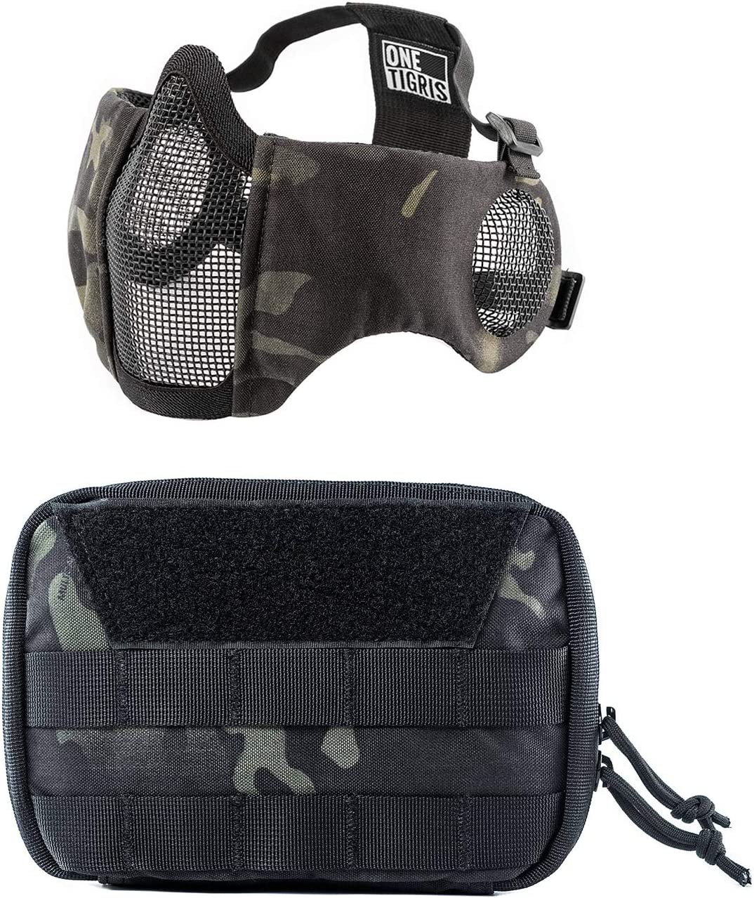 OneTigris Multicam Black 5% OFF Airsoft Luxury goods Pouch Mask Admin MOLLE