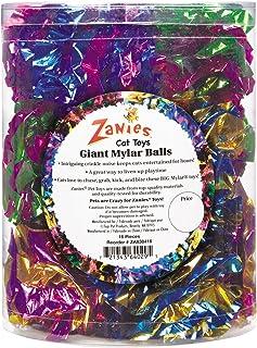 Zanies Giant Mylar Balls Cat Toys, 16-Piece Canisters
