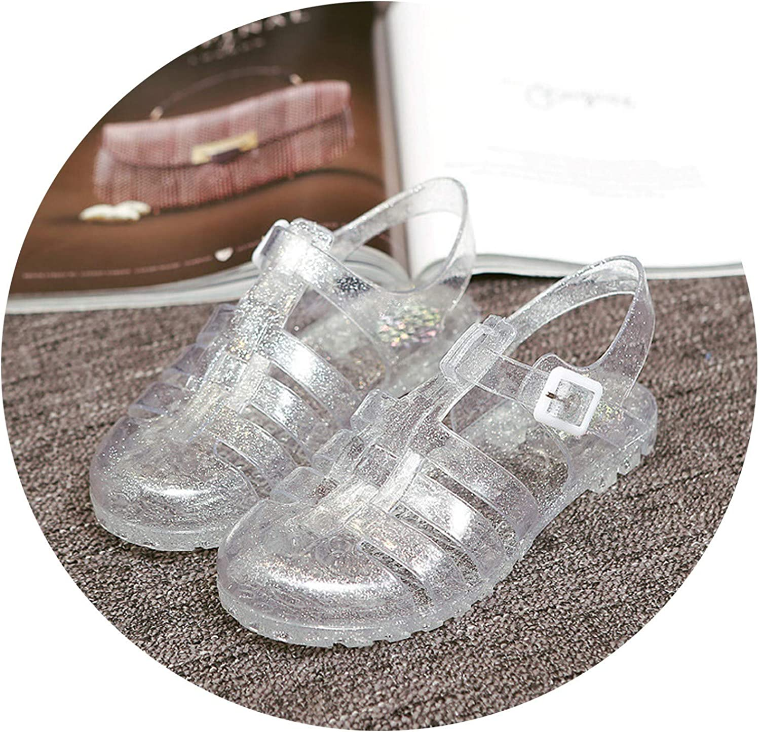Efficiency 2019 Summer Sandals Female Crystal Jelly shoes Beach shoes Boots Slip Plastic shoes Students