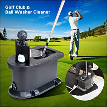 Amazon Com Golf Club And Golf Ball Washer Golf Cart Ball Washer Sports Outdoors