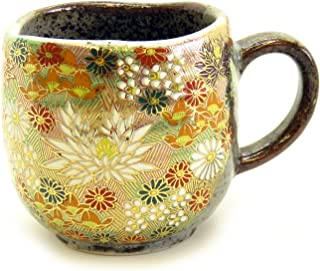 Kutani Yaki(ware) Coffee Mug Gold Flower (Standard version)