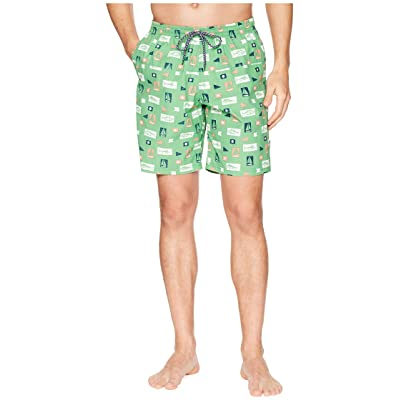 Columbia Harborside Swim Trunk (Emerald City Gamefish Flags) Men