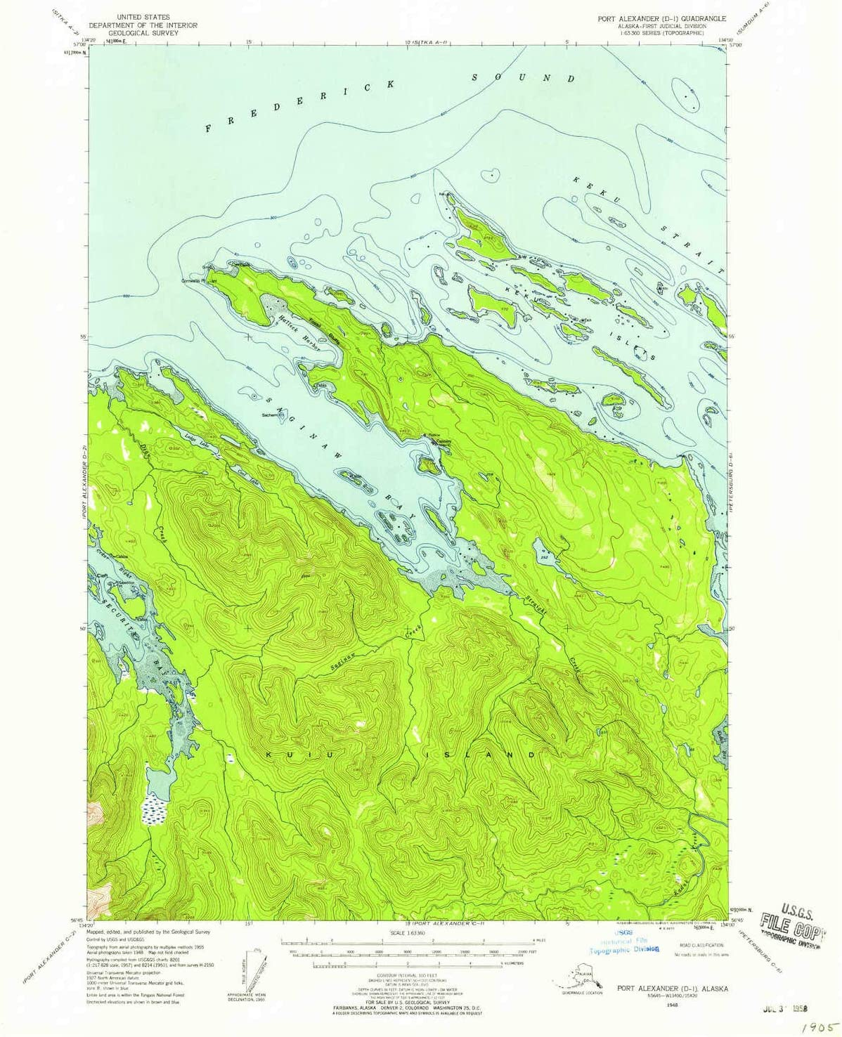Over item handling YellowMaps Port Alexander D 1 AK map Scale Max 43% OFF X 1:63360 topo 15