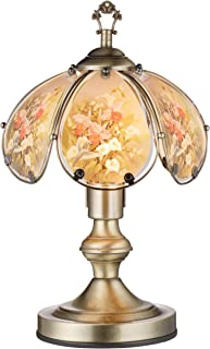 OK Lighting OK-603AB-HC9 14.25-Inch Touch Lamp with Hummingbird Theme, Antique Bronze