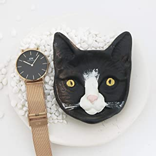 Moon Moon Cat shape rings Organizer and rings Tray, Displaying Rings, Bracelets, Necklaces, Earrings and Watches Desk Orga...