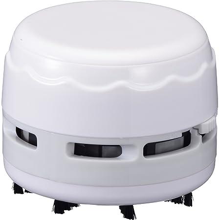 オーム電機 卓上そうじ機 乾電池式 ホワイト [品番]00-5157 JIM-C02-W