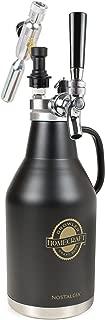 Nostalgia CBG64 HomeCraft Beer growler, 64-Ounce, Black