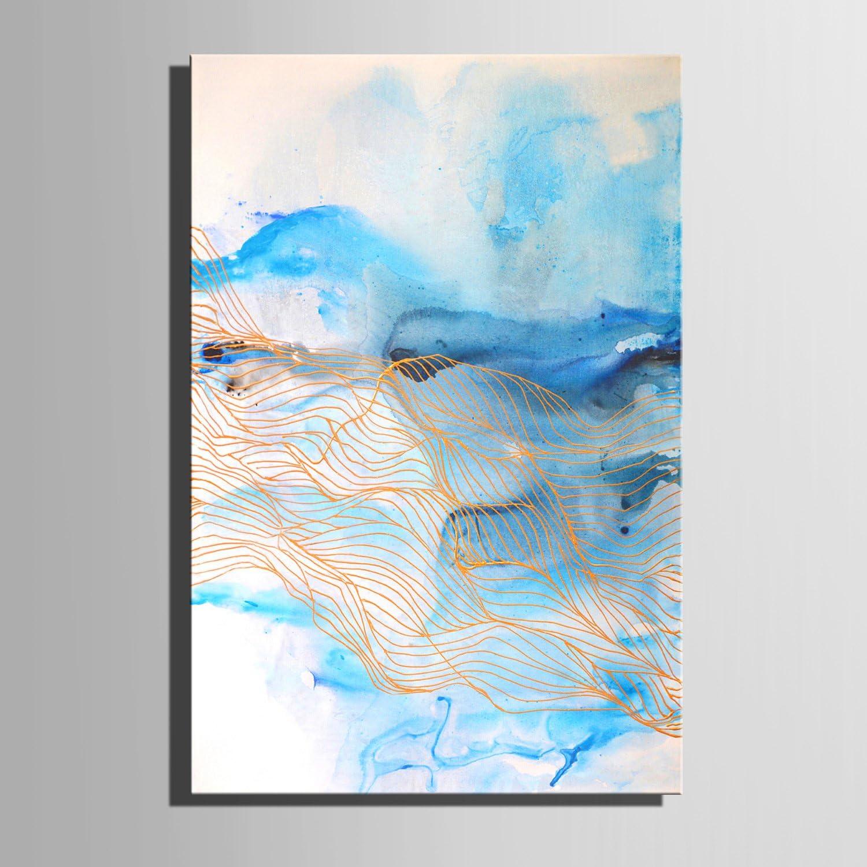 LTQ&QING new-Fantasie blau dekorative Malerei, rahmenlos Gemlde, dekorative Malerei das Wohnzimmer Studie, 5070 B07CSR19JH  | Spezielle Funktion