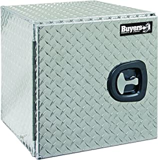 Buyers Products 1705200 Diamond Tread Aluminum Underbody Truck Box w/Barn Door (18x18x24 Inch)