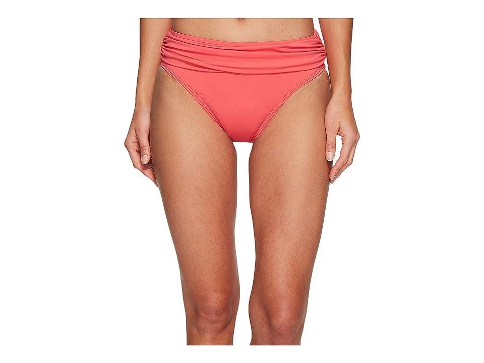 Tommy Bahama Pearl High-Waist Hipster Bikini Bottom (Coral Glow) Women