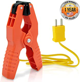 Pipe Clamp Temperature Probe Tool – Type-K Pipe Clamp Adapter Thermocouple Probe..