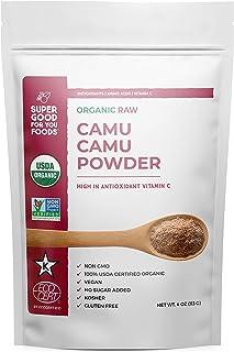 Super Good For You Foods 100% USDA Certified Organic Raw Camu Camu Powder |High in Antioxidants, Vitamin C & Amino Acid| G...