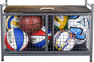 Mythinglogic Heavy-Duty Storage Bench for Garage,Sports Equipment Storage Organizer for...