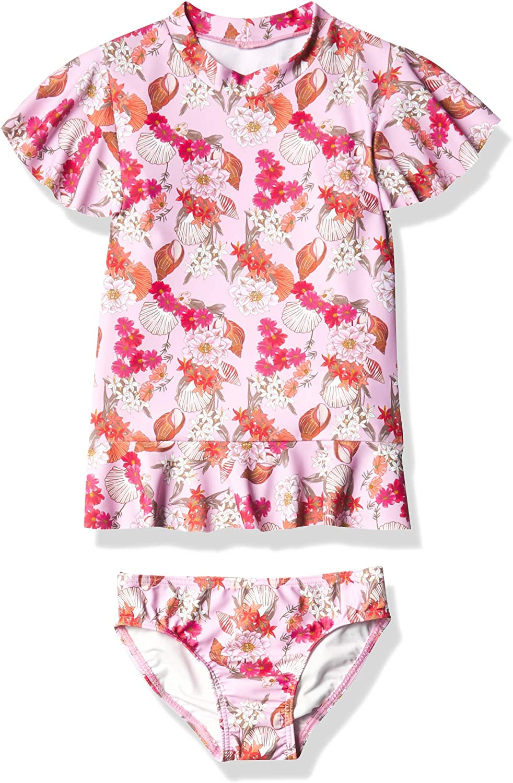 Seafolly Girls' Max 69% OFF Short Sleeve Atlanta Mall Swimsuit Rashguard Set
